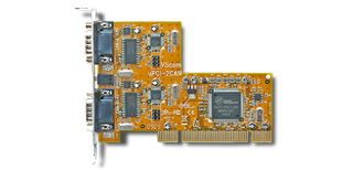 Vscom PCI-2CAN, a double CAN Bus adapter for PCI bus