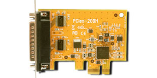 VScom 200E PCIex, a 2 Port RS232 PCI Express x1card, 16C950 UART