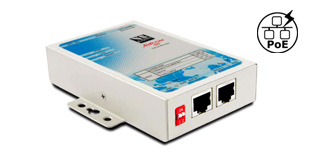 VScom NetCom 211 PoE, a 2 port Serial Device Server for Ethernet/TCP to RS232 with Power over Ethernet