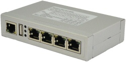 VScom NetCom+ (Plus) 411 RJ45, a quad port Serial Device Server for Ethernet/TCP to RS232