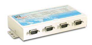 VScom NetCom 413, a 4 port Serial Device Server for Ethernet/TCP to RS232/422/485